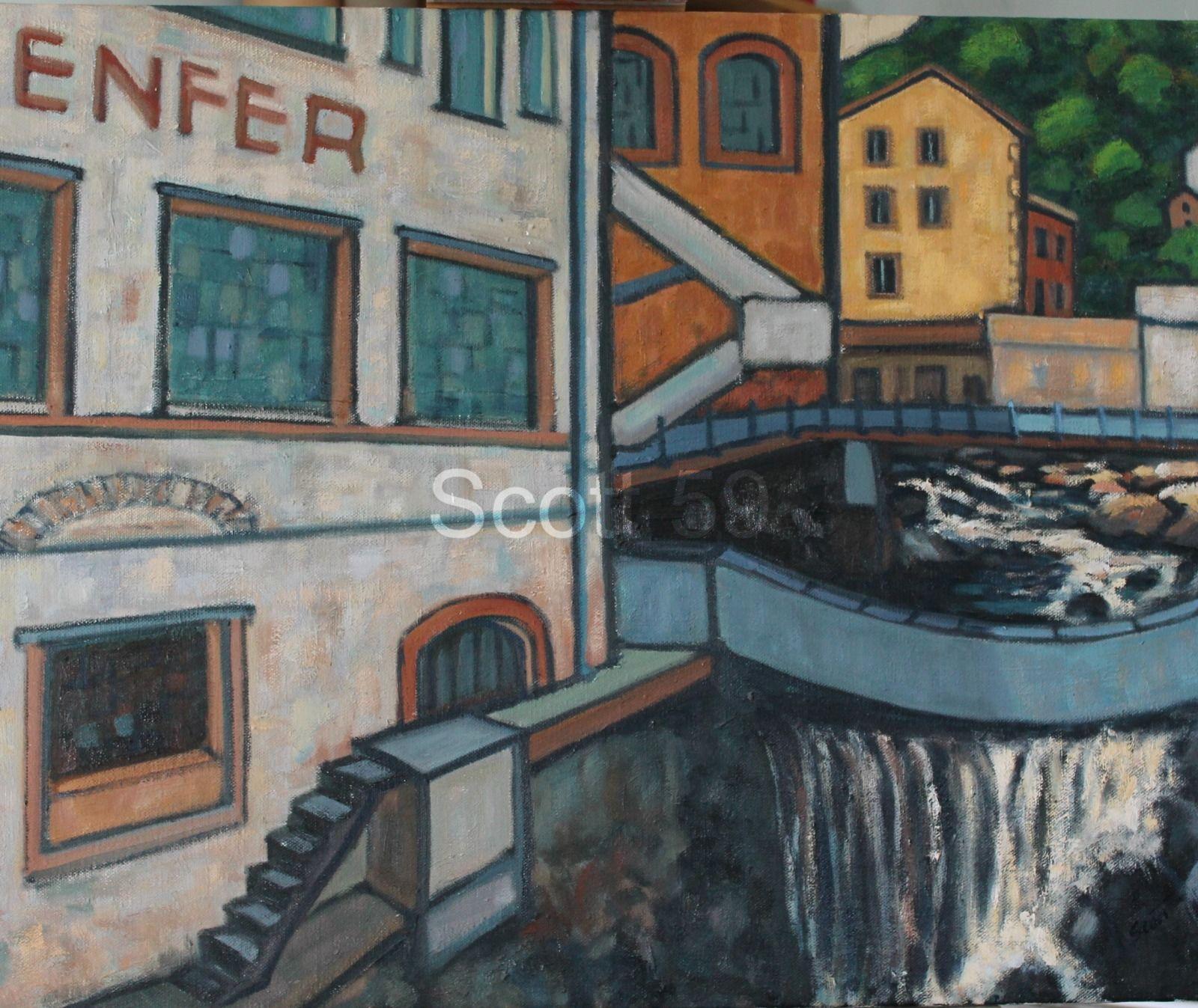 Thiers, Creux d'enfer #1 (Oil on canvas 82cm x 65cm)