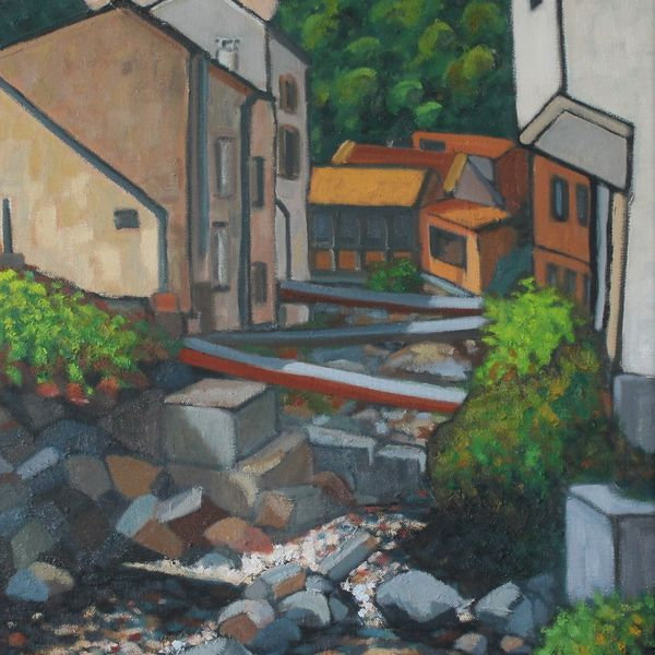 Thiers, Vallee des usines #1 (Oil on canvas 60cm x 73cm)