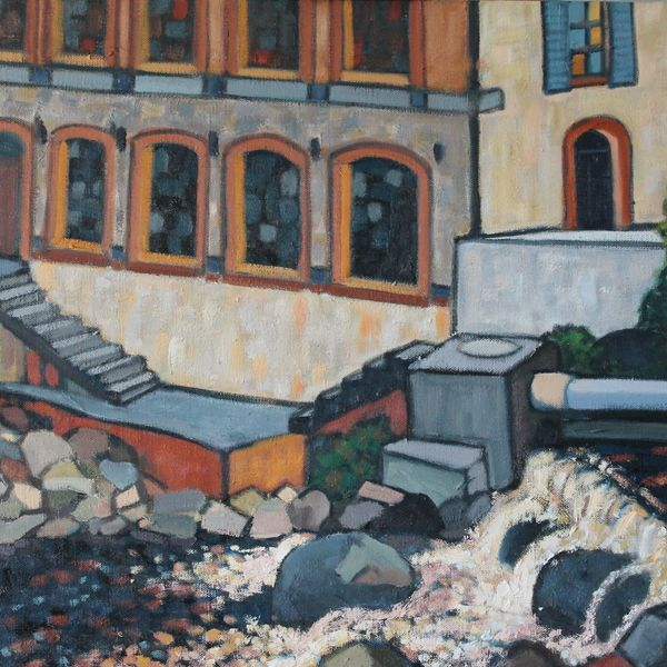 Thiers, Usine #2 (Oil on Canvas)