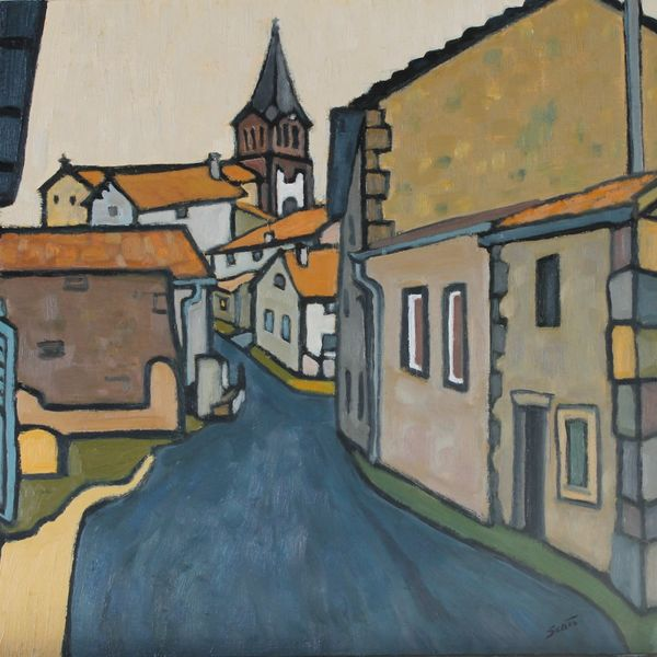 Rue des Vialles (Oil on board 51cm x 61cm)