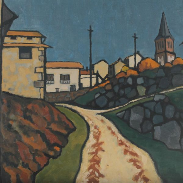 Le sentier de Razonnet (Oil on board 61cm x 51cm)