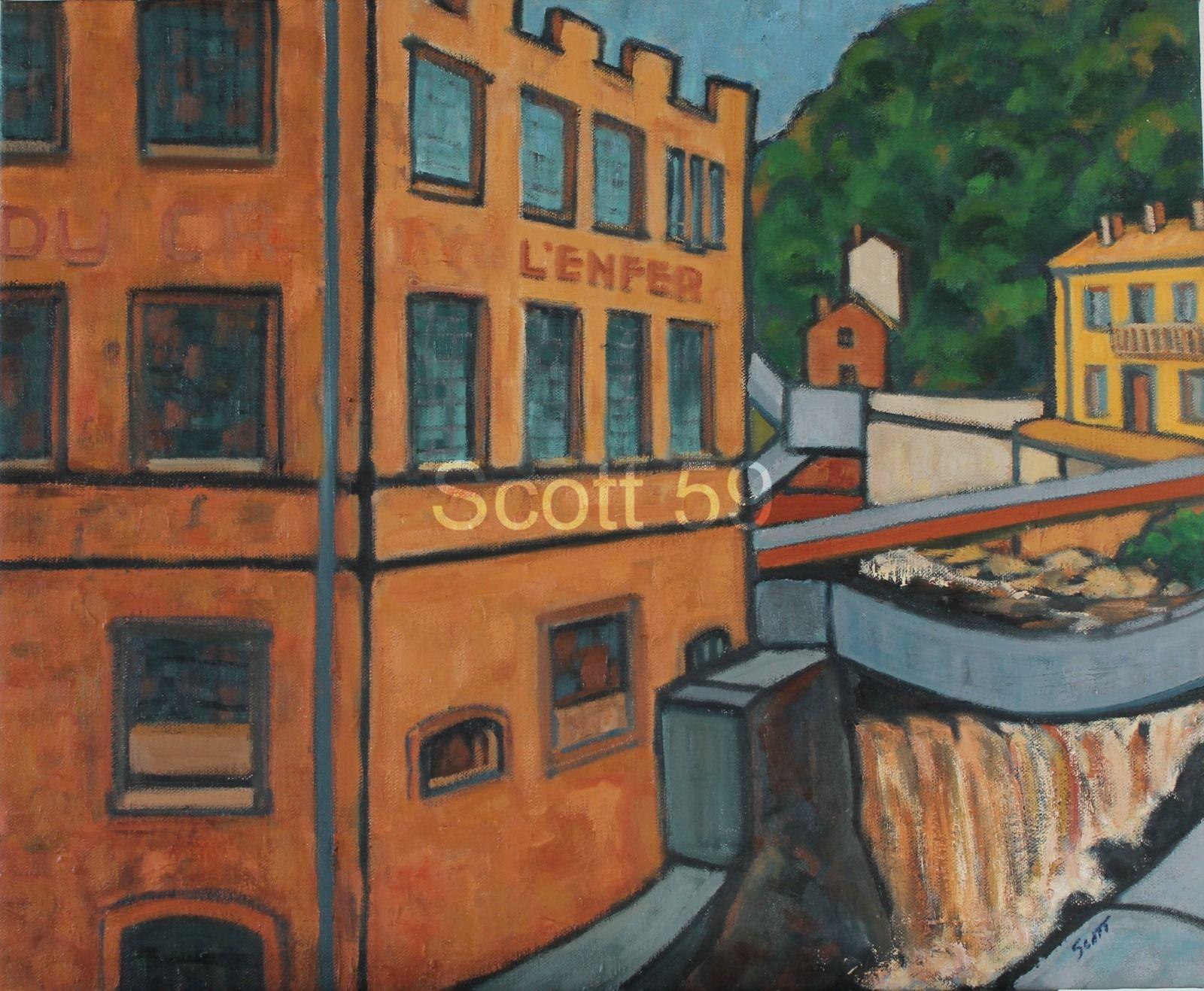 Thiers, Creux d'enfer #3 (Oil on Canvas 73cm x 60cm)