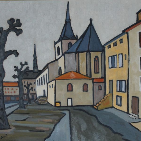 L'eglise St Caprais, Craponne-sur-Arzon (Oil on board, 61 x 51cm)