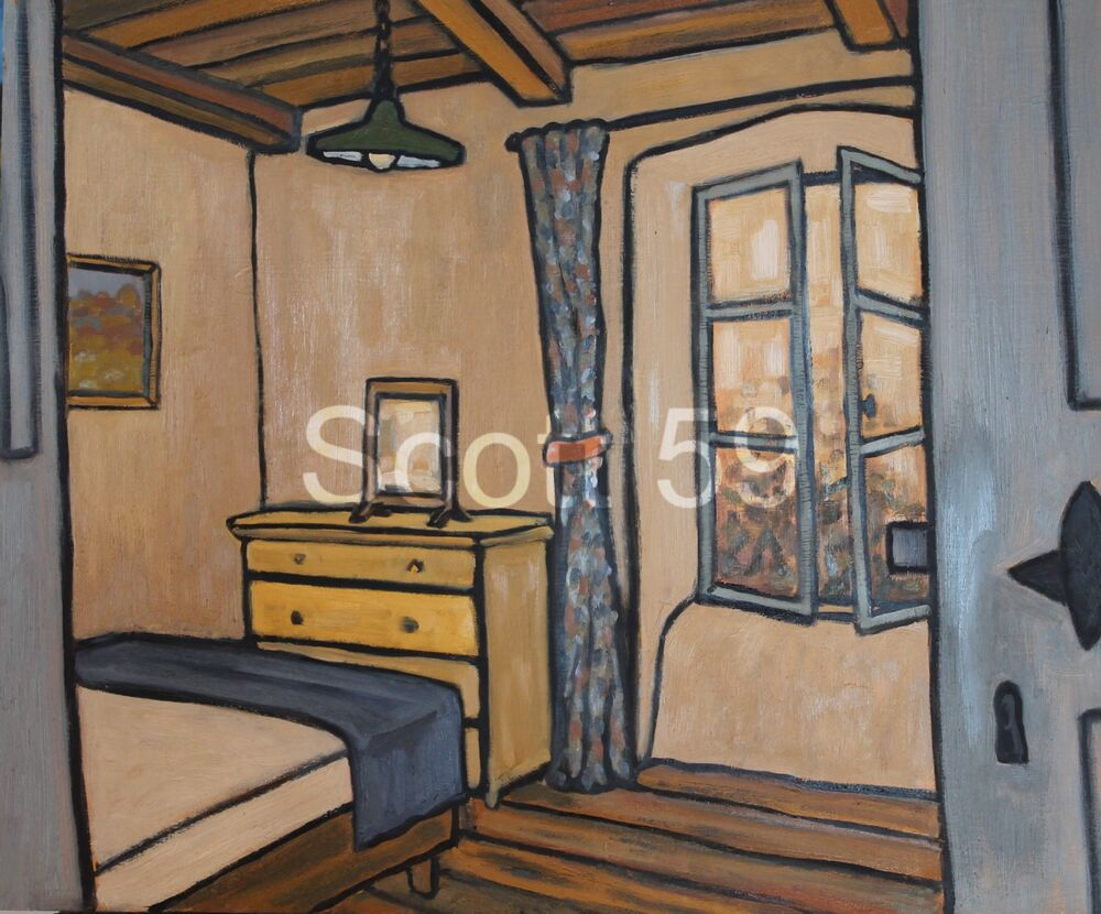 Convent - Chambre 1 (Oil on board, 51 x 61cm)