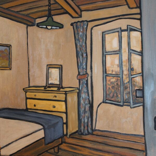 Convent - Chambre 1 (61 x 51cm, Oil on board)