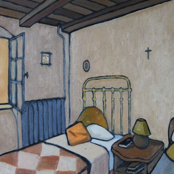 Convent - Chambre 2 (61 x 51cm, Oil on board)