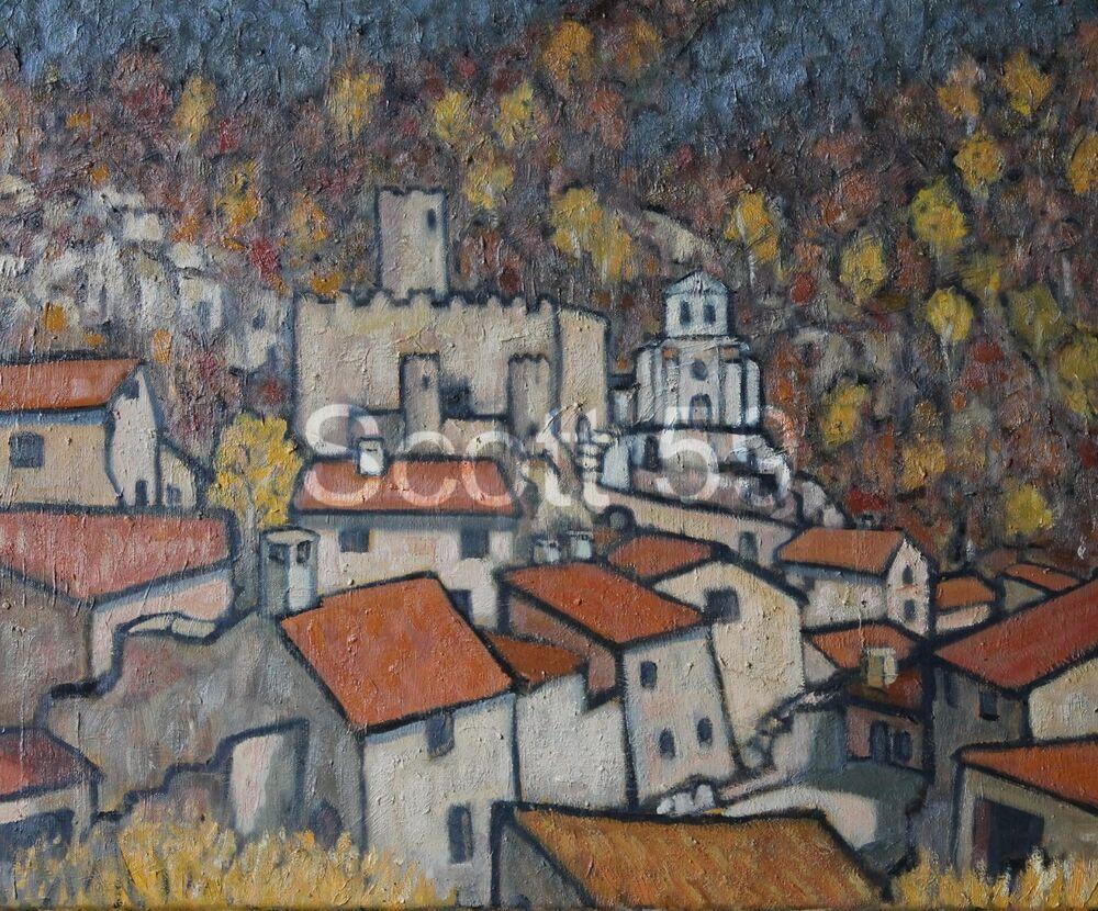 Saint-André-de-Chalencon (2) (Oil on canvas 54 x 65cm)