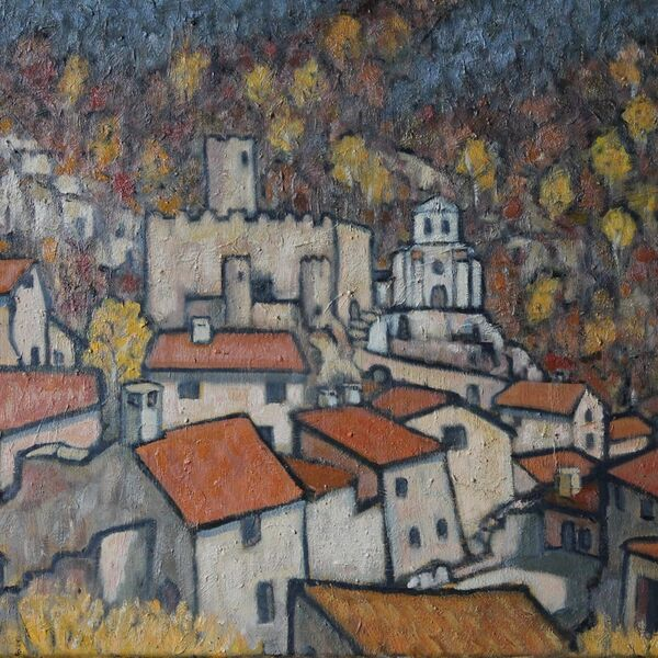 Saint-André-de-Chalencon (2) (Oil on canvas 54 x 65cm)