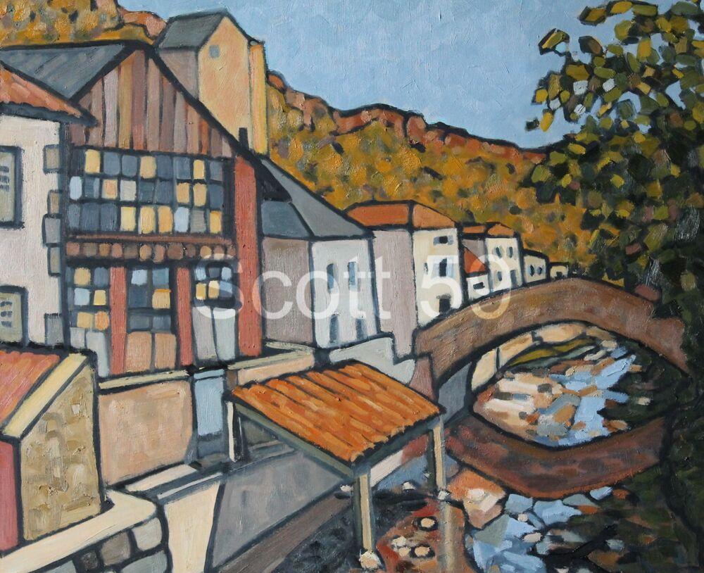 Le Pont a Blesle (Oil on board, 51 x 61cm)
