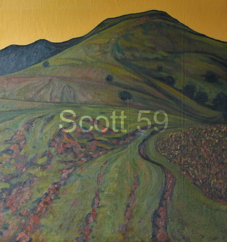 Mynydd Llangorse Yellow and Green (Oil on canvas - SOLD)