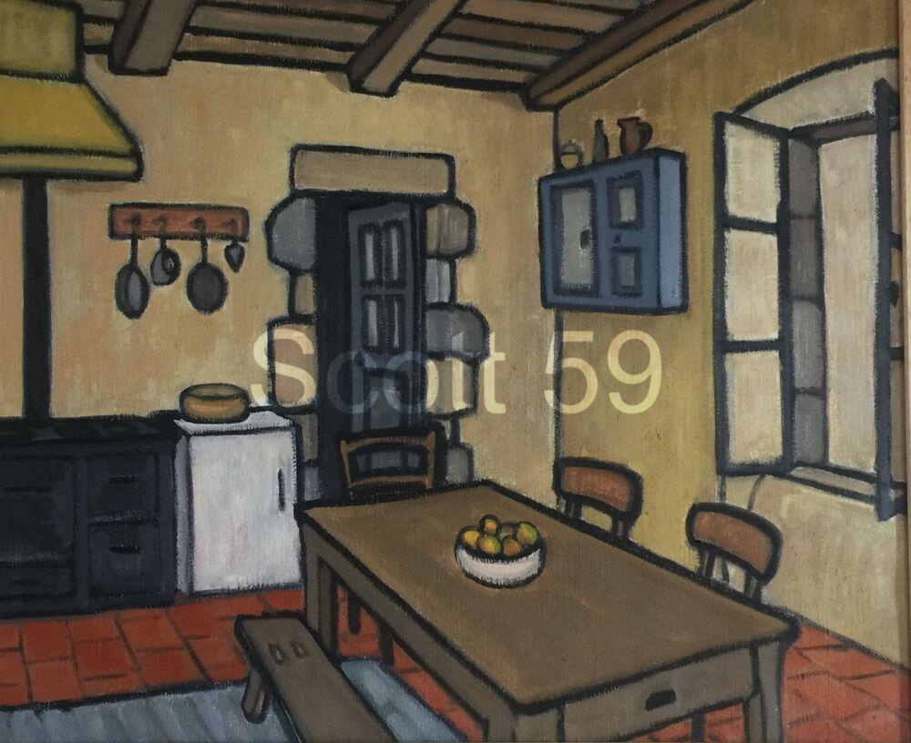 La cuisine (Oil on canvas, 54 x 65cm)