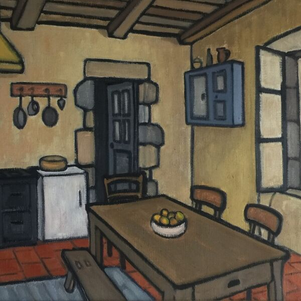 La cuisine (Oil on canvas, 54 x 65cm)