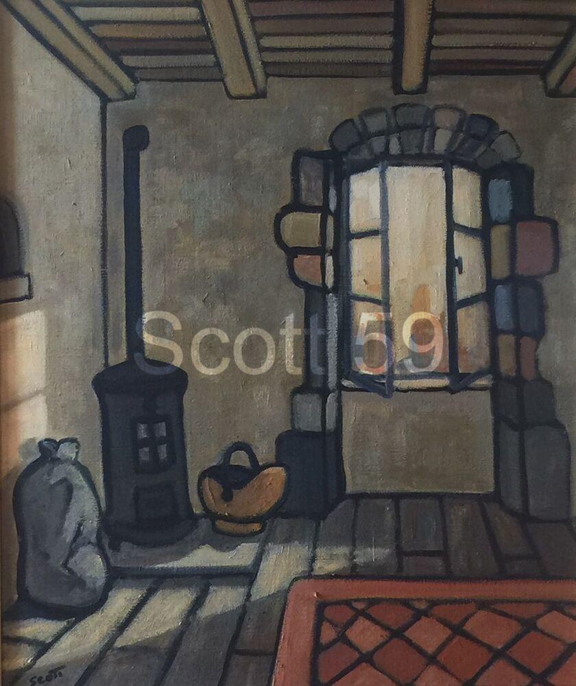 Le Poele a charbon (Oil on canvas SOLD)