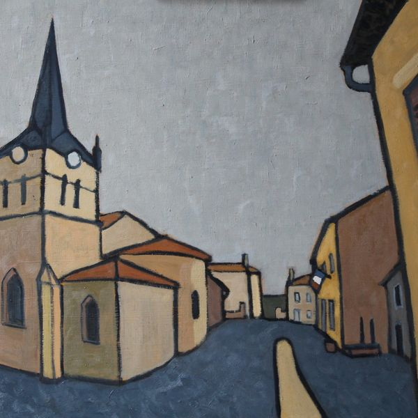 La Mairie, Boisset (Oil on board, 61x51cm)