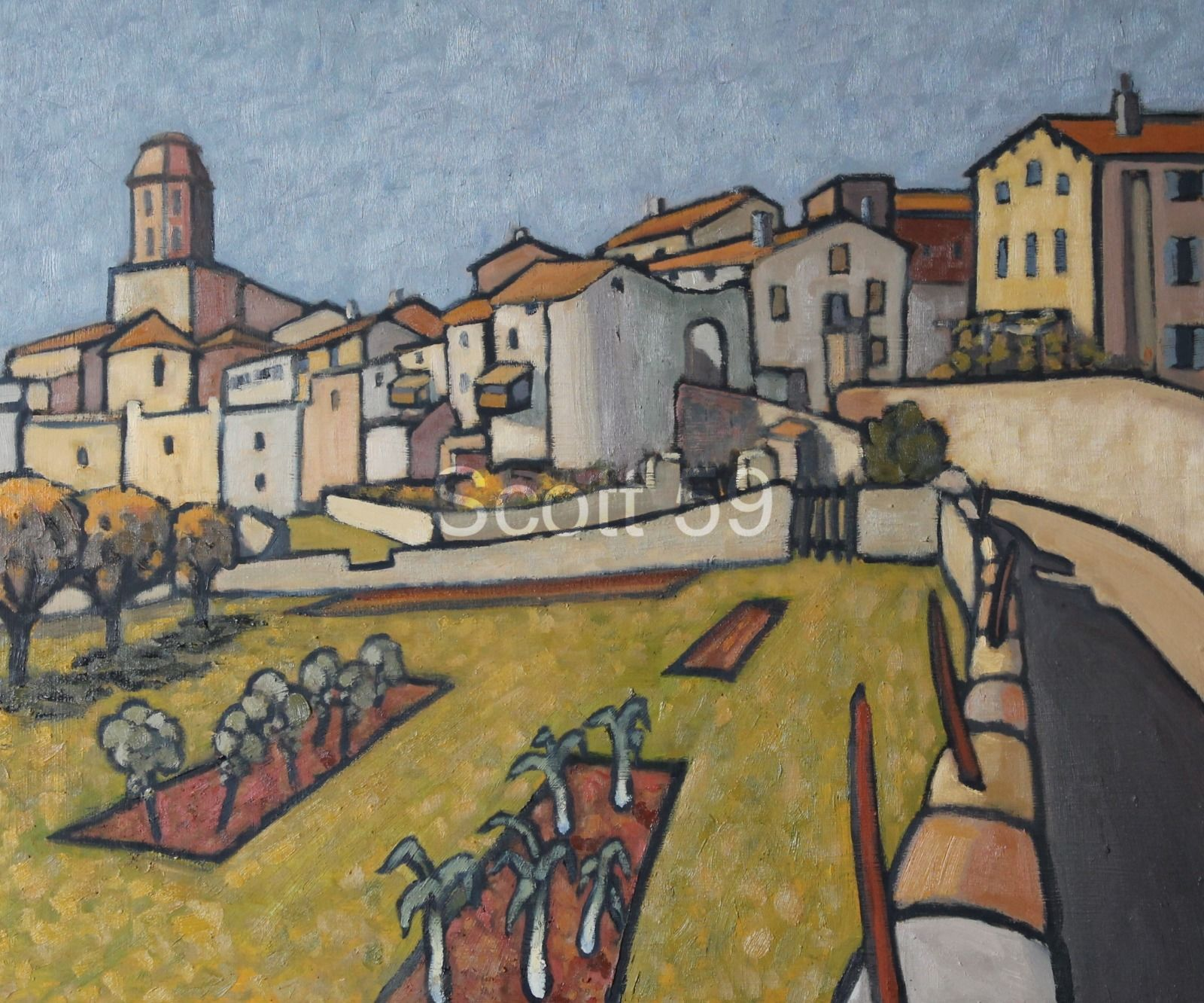 Lavaudieu, (Oil on board) SOLD