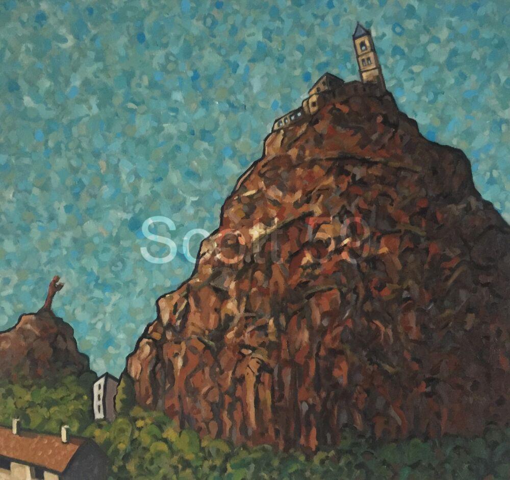 St-Michel d'Aiguilhe, Le Puy (Oil on canvas 38 x 36 inches)