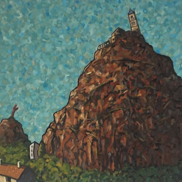 St-Michel d'Aiguilhe, Le Puy (Oil on canvas 38 x 36 inches)