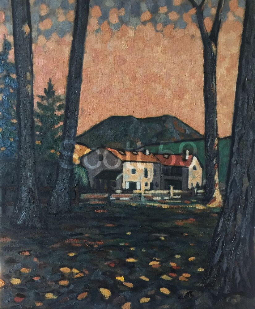 Moulin a Moulis (Oil on canvas 54 x 65 cm)