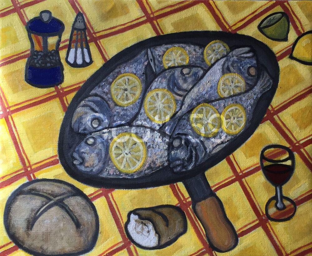 Dejeuner chez Michelle (Oil on canvas, 73 x 60cm)