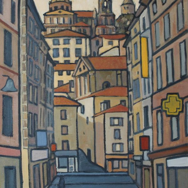 Rue Crozatier, Le Puy (Oil on board 51x61cm)