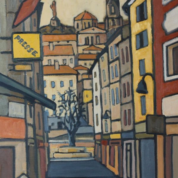 Rue Porte Aiguiere, Le Puy (Oil on board 47 x 61cm)