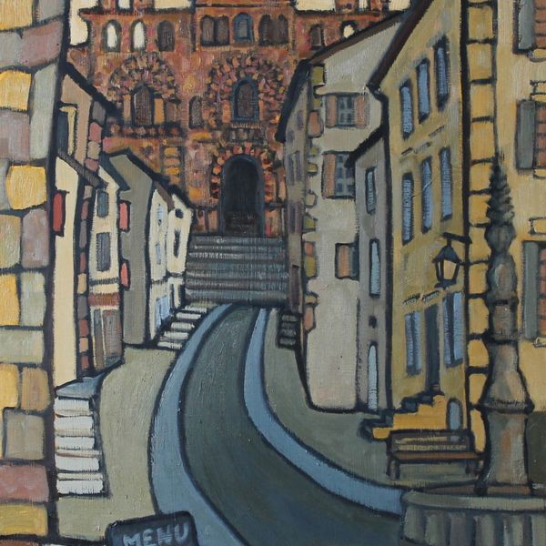 Rue des Tables, Le Puy (Oil on board 51x61cm)