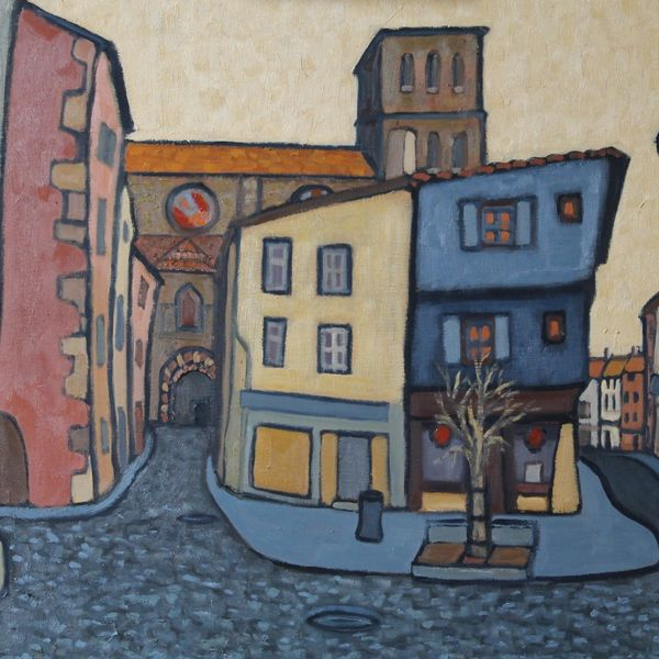 Rue de Chapitre, Brioude (Oil on board 61x51cm)