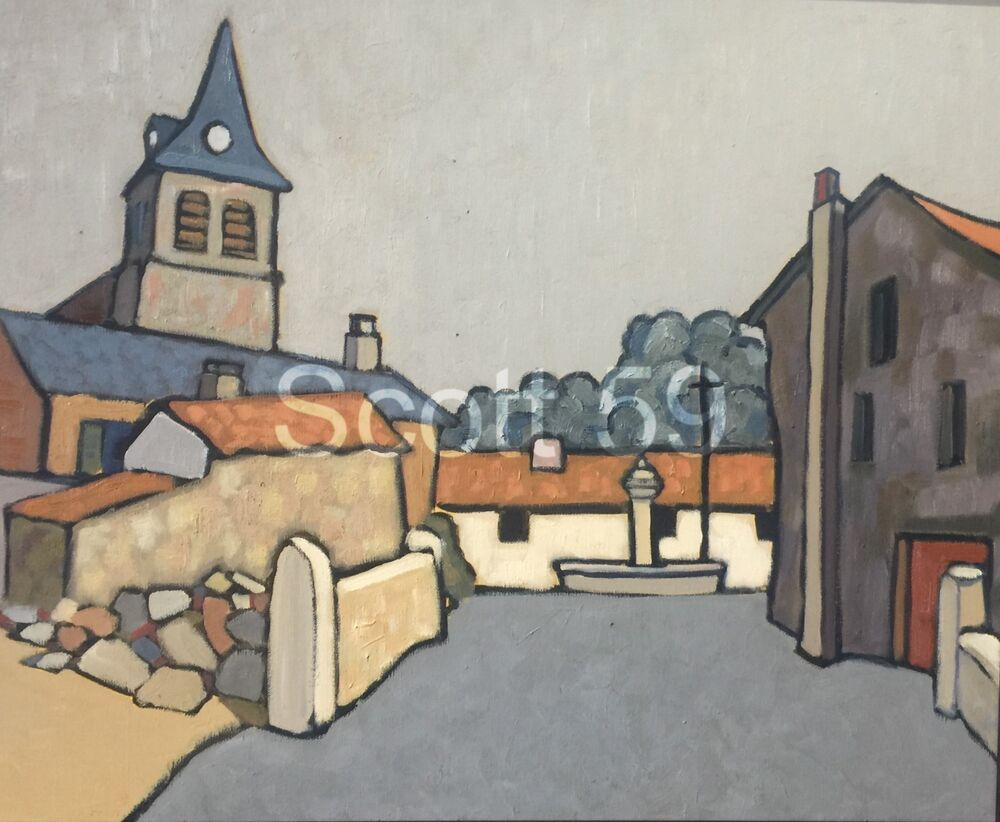 St Jean de Nay (Oil on Canvas 65 x 54 cm)