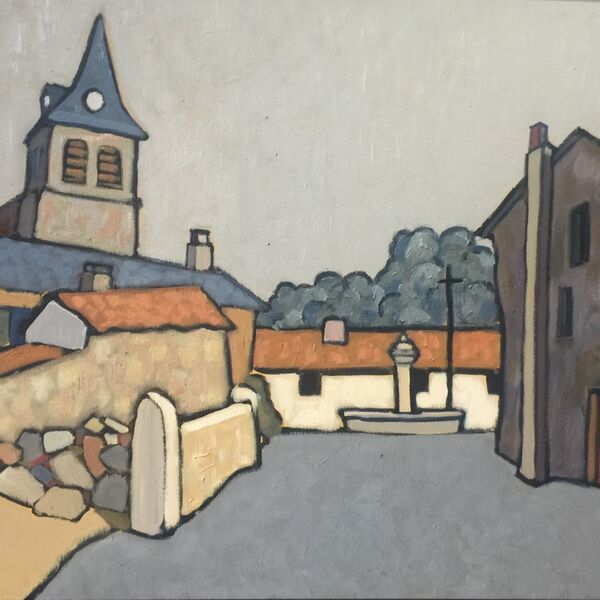 St Jean de Nay (Oil on Canvas 65 x 54 cm)