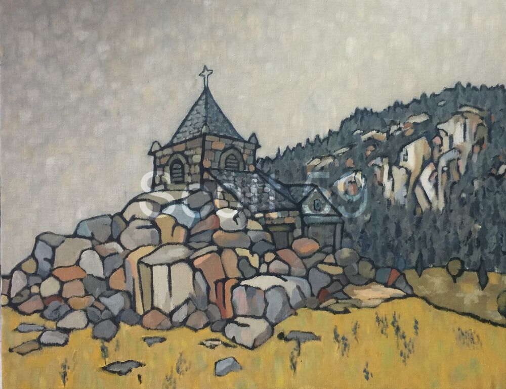 La Chapelle de Glavenas (Oil on canvas 81 x 65 cm)