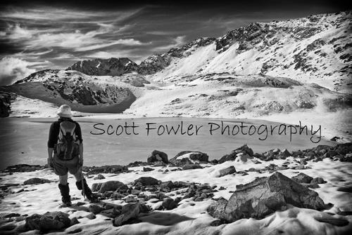 Alpine frozen lake