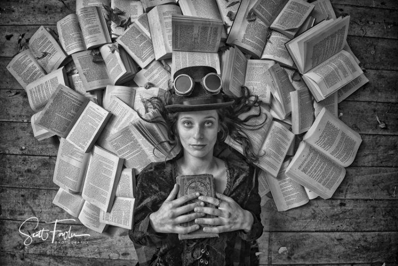 Steampunk bookworm