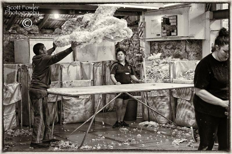 Throwing the fleece