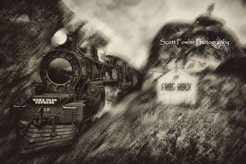 Weka pass steam train