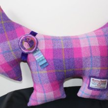 Pink Scottie Dog Cushion