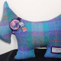 Harris Tweed Scottie Dog Cushion