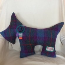 Blue/Purple Scottie Dog Cushion