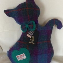Blue/Purple Scattie Cat Cushion
