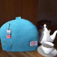 Turquoise tea cosy