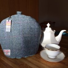 Blue Herringbone Tea Cosy