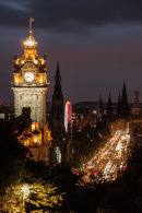 Princes Street at Night from Calton Hill