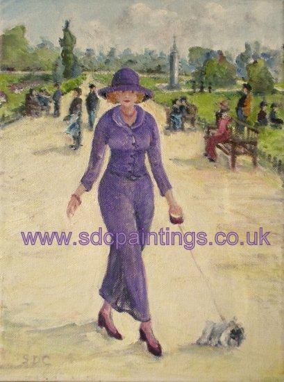 Violet Walking Marbles