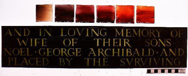 Replacement inscription