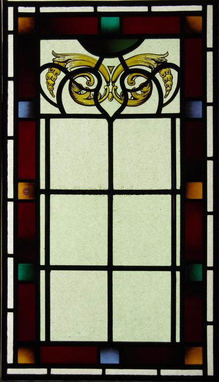 New stained glass to match existing windows