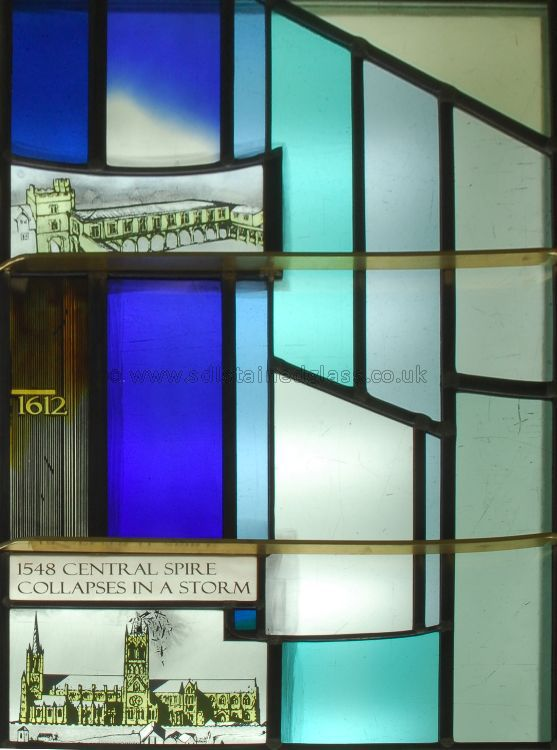Time Line Window, detail, Lincoln Cathedral, 2008