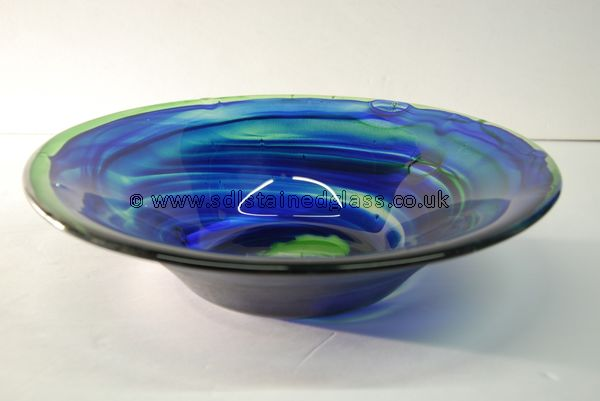 Streaky blue classic mould bowl