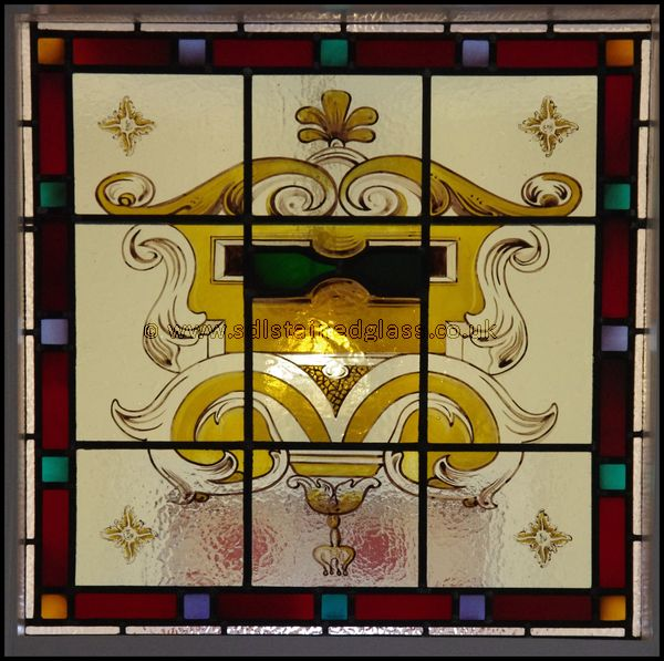New painted and stained panel edwardian motif