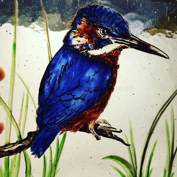 Painted and enamelled kingfisher