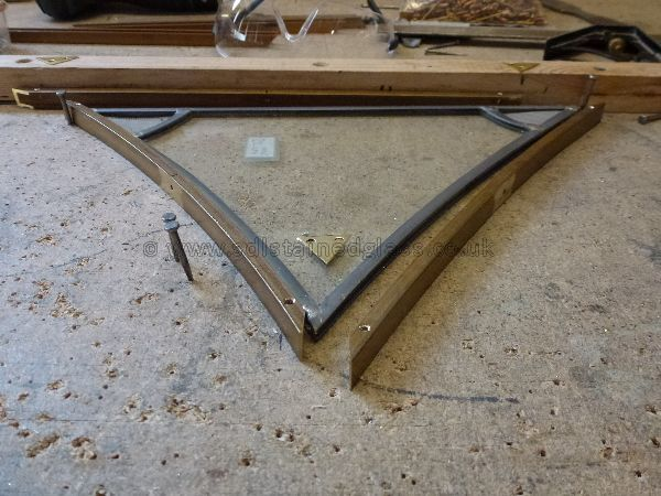 Framing a tracery light for Exeter Cathedral
