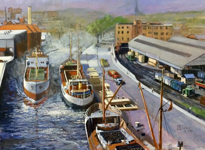 Coastal vessels Marine Art Norfolk Norwich
